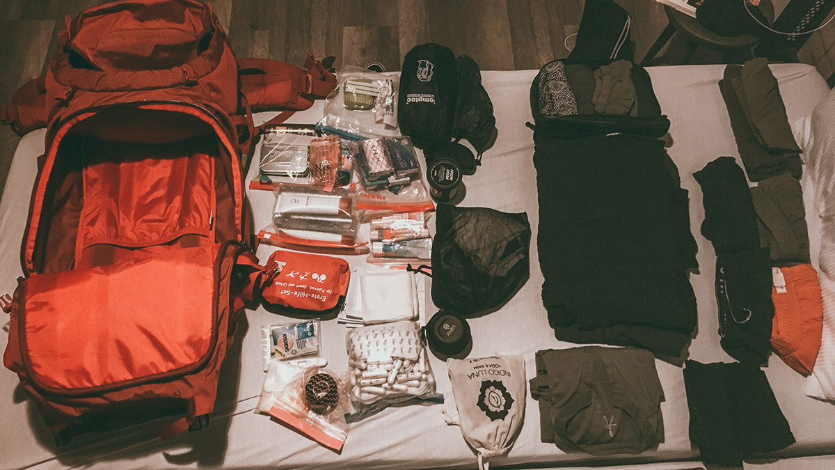 Weltreise Packliste Backpacking