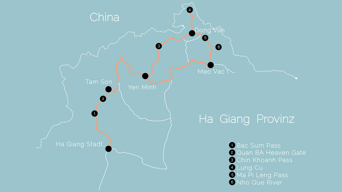 Ha Giang Loop Route